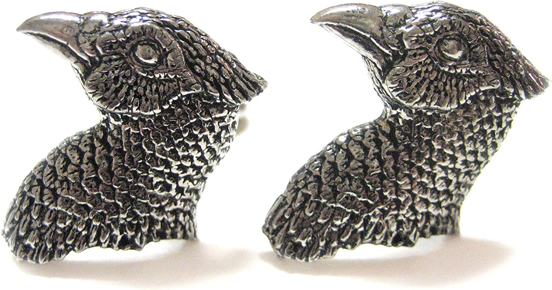 Pheasant Bird Head Cufflinks