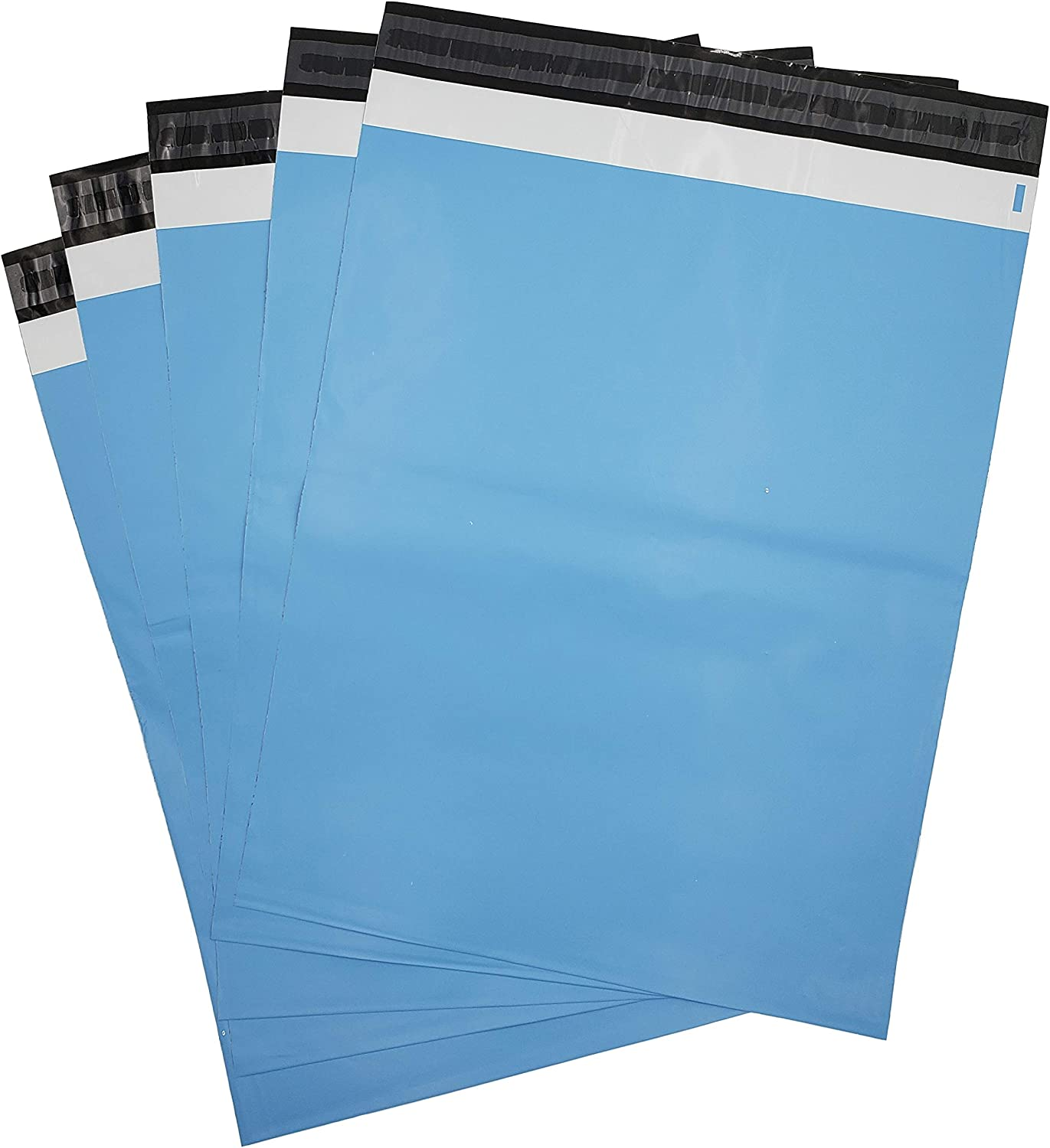 Ecofriendly Poly Mailer Bags Blue 14.5 x 18.8 Biodegradable Mailers 50pcs Mailer with Adhesive Strip Waterproof and Tearproof mailing bags Compostable mailers,Poly Mailer Envelope with self Seal