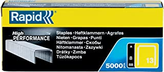 Rapid 13/8 Staples R13 and R23 and R33 8mm shank length [Pack of 5000]