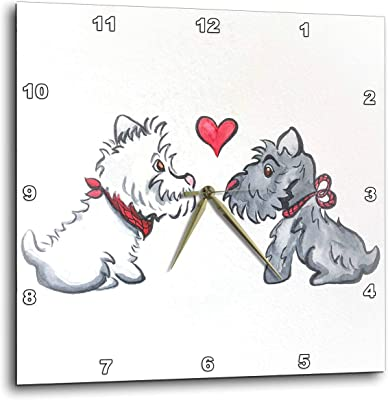 3dRose Art by Mandy Joy - Illustrations, Watercolor - A Cute Cartoon of Westie and