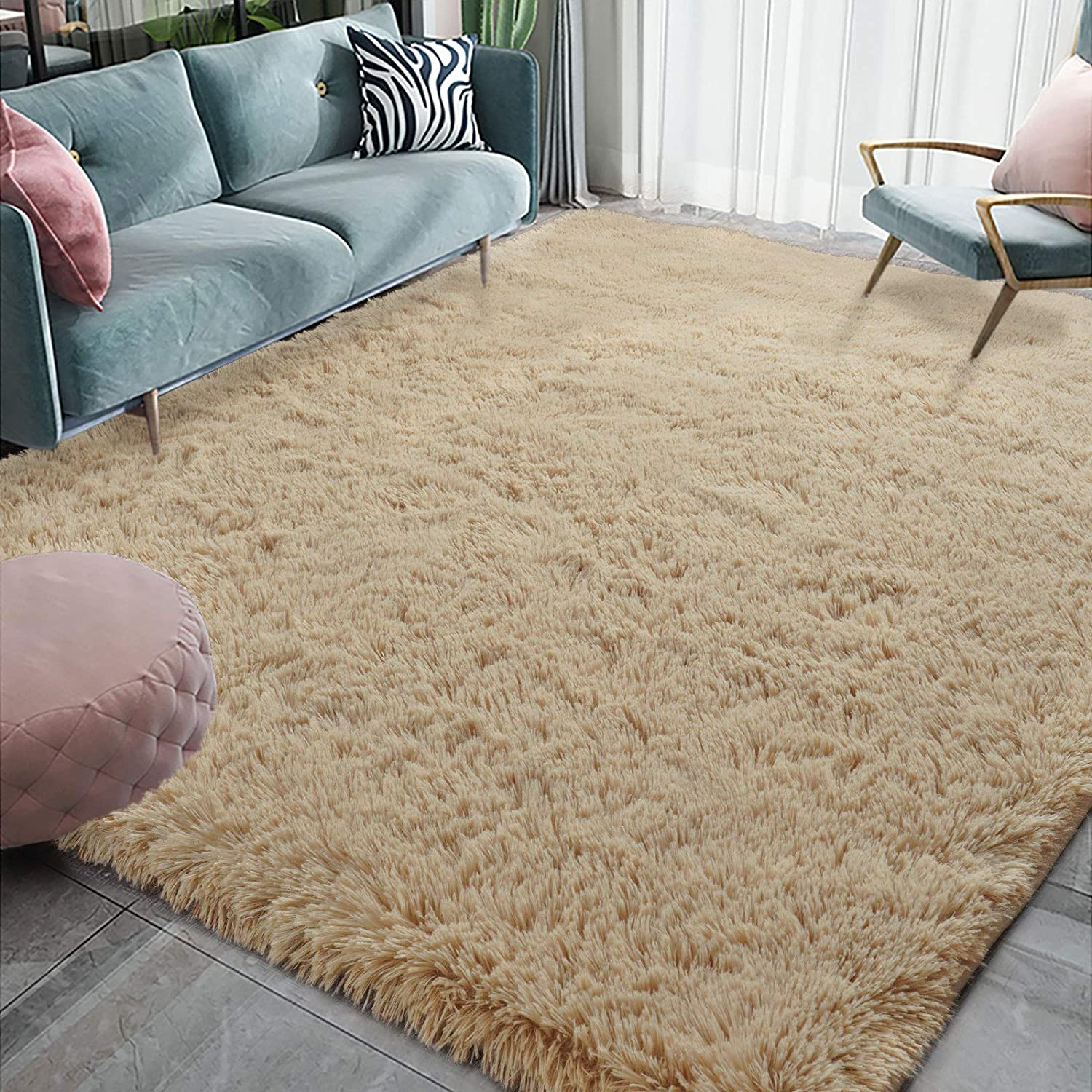 Homore Luxury Fluffy Area Rug Modern ! Super beauty product restock quality top! Shag Rugs Livin Fees free for Bedroom