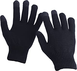 EvridWear Unisex Merino Wool Winter Gloves, Smartphone Touch Screen Gloves for Men & Women
