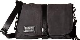 John Varvatos Star U.S.A. - Suede & Ballistic Nylon Messenger Bag