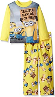 Despicable Me Boys' 2-Piece Fleece Minion Pajama Set