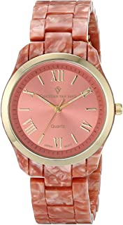 Christian Van Sant Women's CV3413 Granite Analog Display Quartz Pink Watch