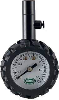 Slime 20185 Low Dial Gauge with Bleeder Valve, 1-20 PSI