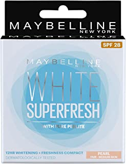 Maybelline New York White Super Fresh Compact Pearl, 8G by Maybelline