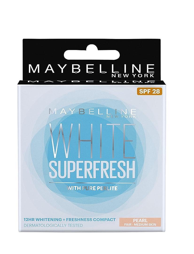 地雷原免除測るMaybelline New York White Super Fresh Compact Pearl, 8g