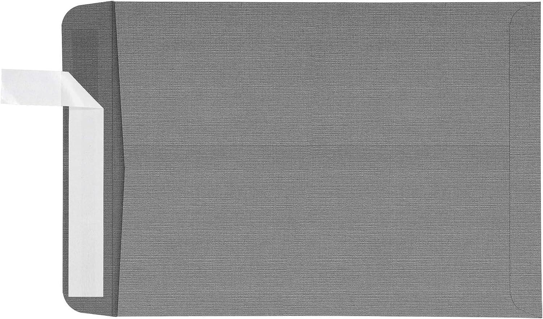 10 x 13 Open End Cheap Envelopes - Qty. Pe Linen specialty shop Sterling 500 Gray