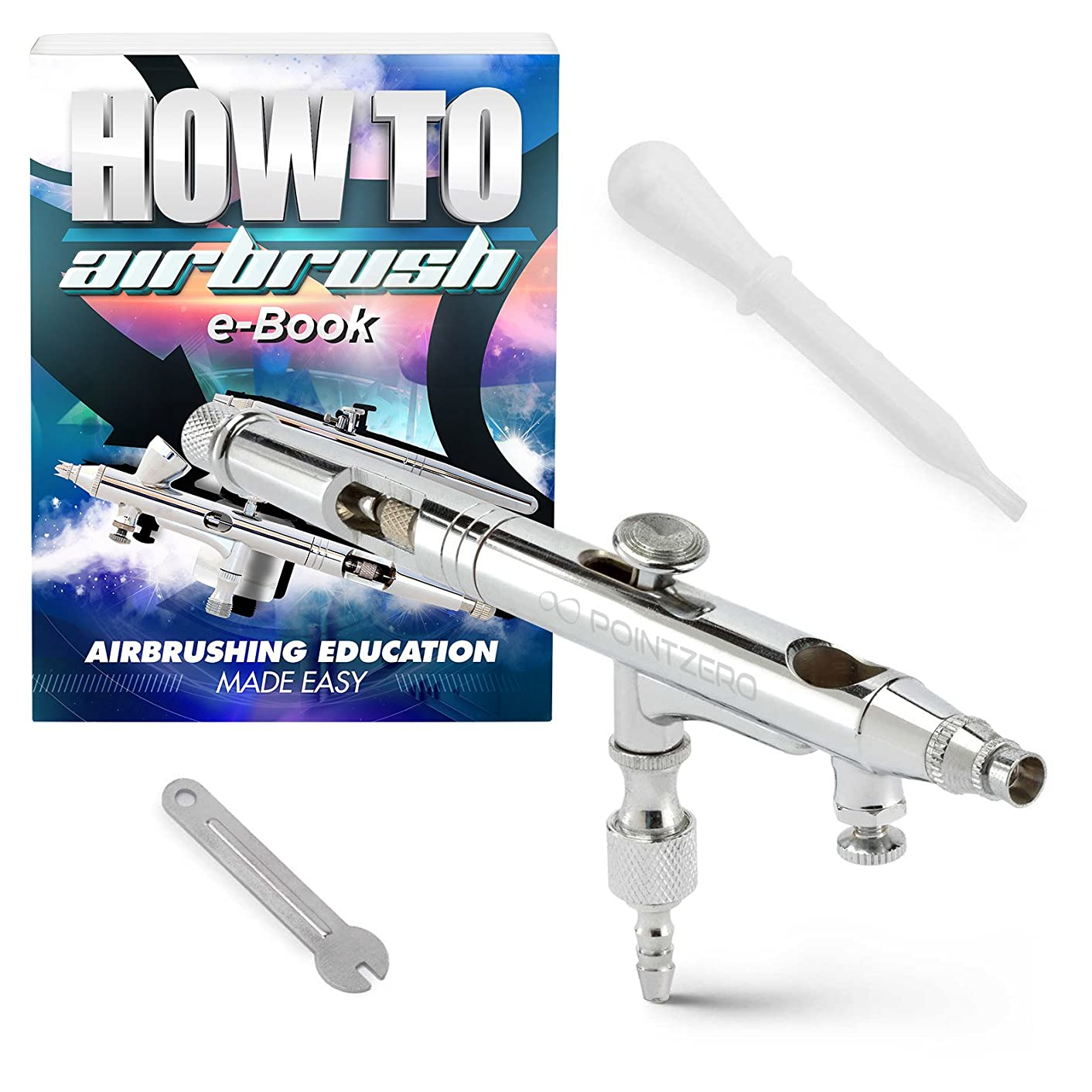 PointZero Dual-Action .5cc Gravity-Feed Airbrush Set w/MAC Valve - .2mm Nozzle