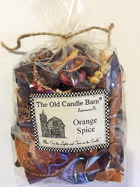 旧蜡烛谷仓橙色香料 4 杯袋完美家居装饰或碗填充物美丽的橙色香料香味