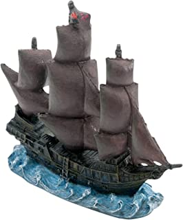 "Penn-Plax Officially Licensed Disney Aquarium Ornaments from Pirates of The Caribbean (4.25"" Black Pearl)"