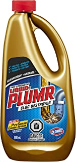 Clorox Liquid Plumr, Pro Strength Clog Destroyer, 3 Packs x 30 Fl.Oz, PipeGuard Plus+