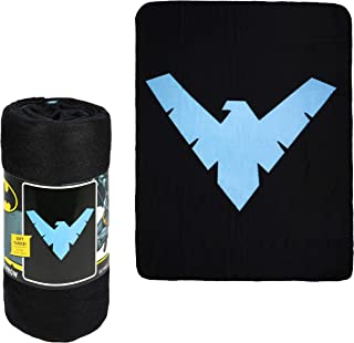 "JPI Fleece Throw Blanket - Batman Nightwing - Lightweight Faux Fur Fleece Blanket Large 50""x 60"" - for Beds, Sofa, Couch, Picnic, Travel, Camping"