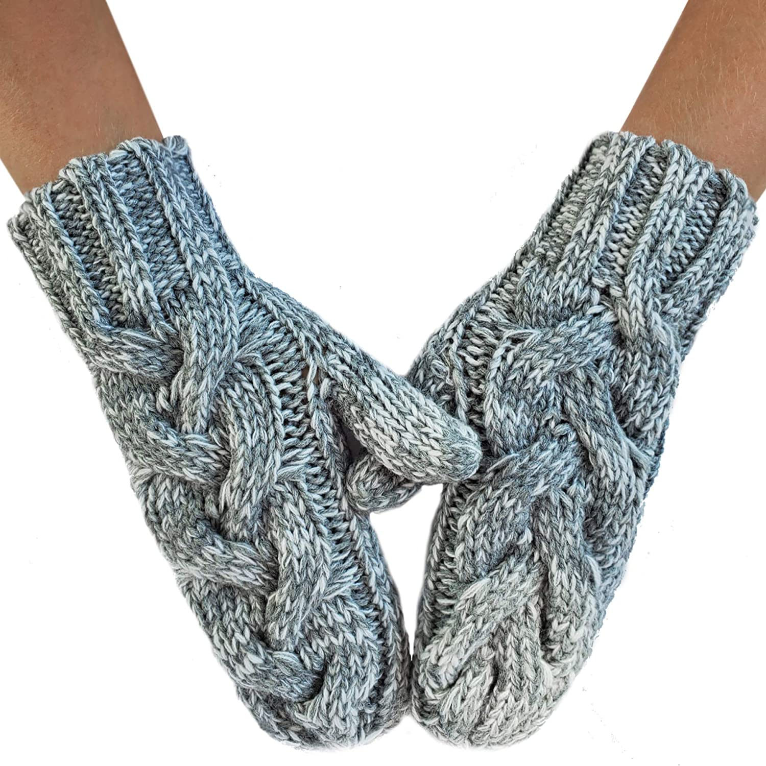 Mittens for Women Soft and Cozy for Cold Weather Wool Knit Womans Winter Mittens Warm Gloves