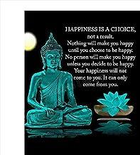 "Buddha Art Print -""Happiness is a Choice""- 8 x 10 Art Wall Print Art Ready to.."