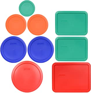 Pyrex (1) 7402-PC 6/7 Cup Red (2) 7201-PC 4 Cup Cadet Blue (2) 7200-PC 2 Cup Orange (1) 7202-PC 1 Cup Green (2) 7210-PC 3 Cup Light Green (1) 7211-PC 6 Cup Red Food Storage Lids