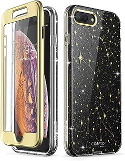 i-Blason Cosmo Glitter Clear Bumper Case for iPhone 8 Plus/iPhone 7 Plus Black/Star iPhone cosmo