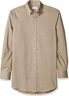 Mens Dress Shirts Regular Fit Twill Solid Button Down Collar