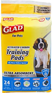 Glad for Pets Heavy Duty Ultra-Absorbent Activated Charcoal Puppy Pads with Leak-Proof edges | Pee Pads for Dogs Perfect f...