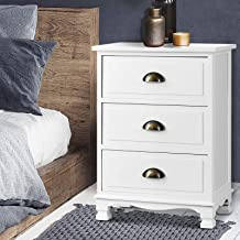 Artiss Bedside Tables Wooden Bedside Drawers, White