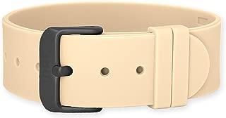 JDRT Watch Strap - Brown Silicone / Matte Black Buckle