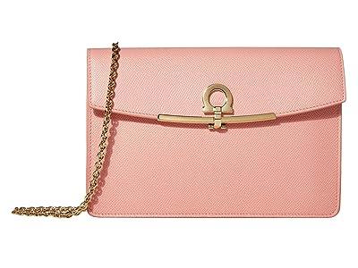 Salvatore Ferragamo Clip Mini Bag (Desert Rose) Handbags