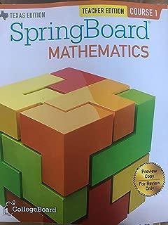 SpringBoard Mathematics Course 1 Teacher Edition