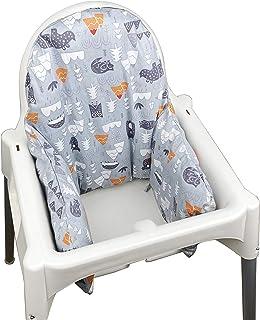 comprar comparacion ZARPMA - Cojín hinchable para trona IKEA Antilop (sólo la funda) gris