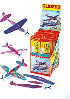 Baker Ross Ltd Power Prop Flying Gliders (Pack of 6) Easy Assembly Airplane Toy Glider Planes for Kids Toys, Birthday Party, School Classroom Rewards or Carnival Prizes