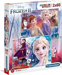 CLEMENTONI - Super Color Disney Frozen 2 Puzz 2X60Pcs
