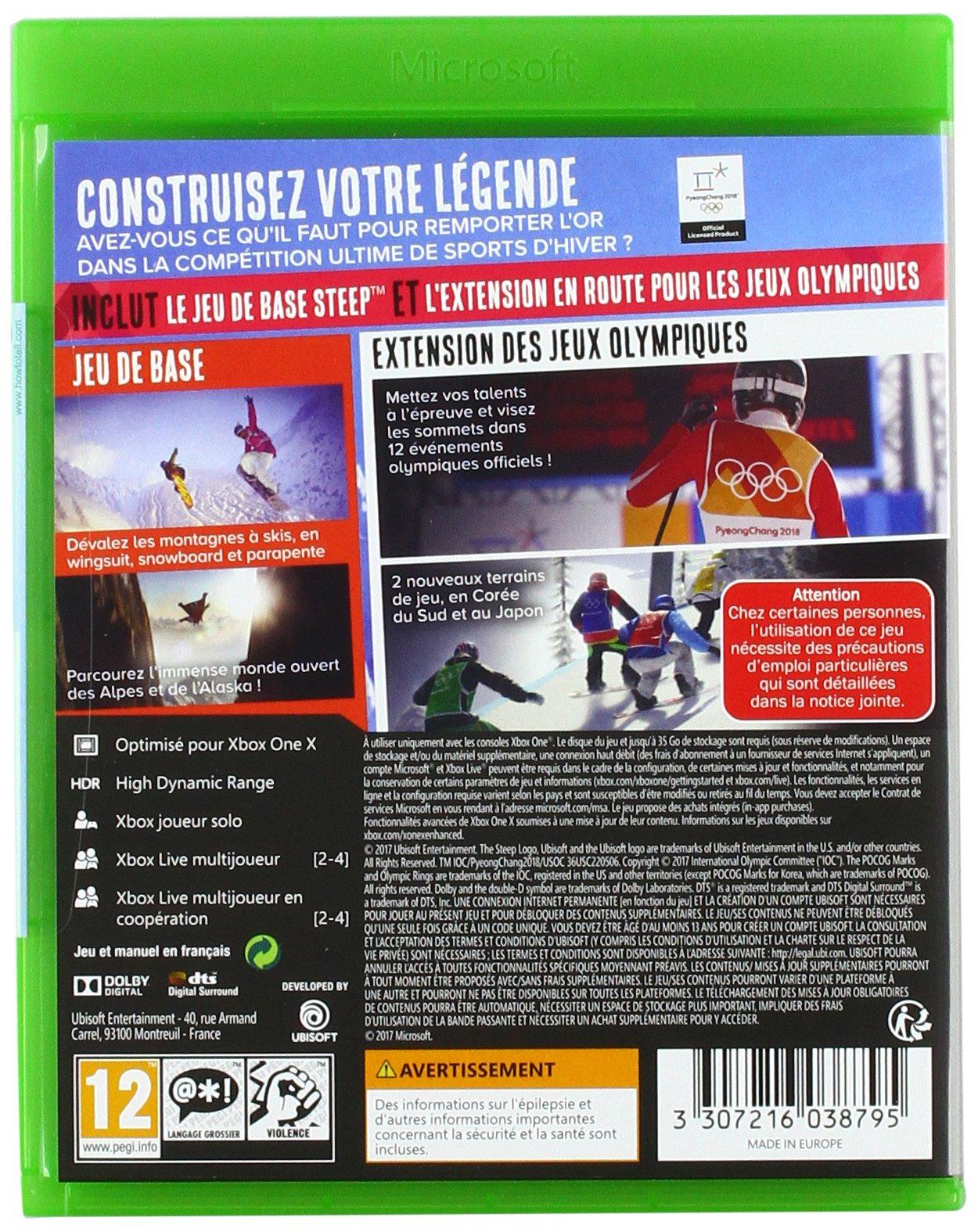 Steep - édition Jeux dhiver - Xbox One [Importación francesa]: Amazon.es: Videojuegos