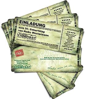 60 Geburtstagskarten Geburtstagseinladungen Einladungskarten  Grungy B'Day  grün Ticket Eintrittskarte Abriss-Coupon B076QFJDLH  Explosive gute Güter