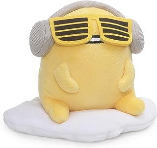"GUND Gudetama with Sunglasses and Headphones Lazy Egg Sanrio Plush, Yellow, 5"""