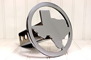 Custom Hitch Covers 12549-Chrome Circle Texas Hitch Cover, 2""