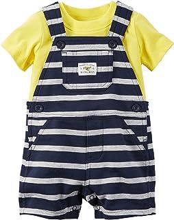 Carter's Baby Boys' 2 Piece Striped Shortall Set 121g353