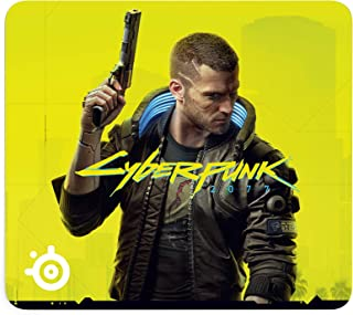 SteelSeries QcK Large Cyberpunk 2077 Edition Cloth Gaming Mousepad - Exclusive Micro-Woven Surface - Optimized for Gaming ...
