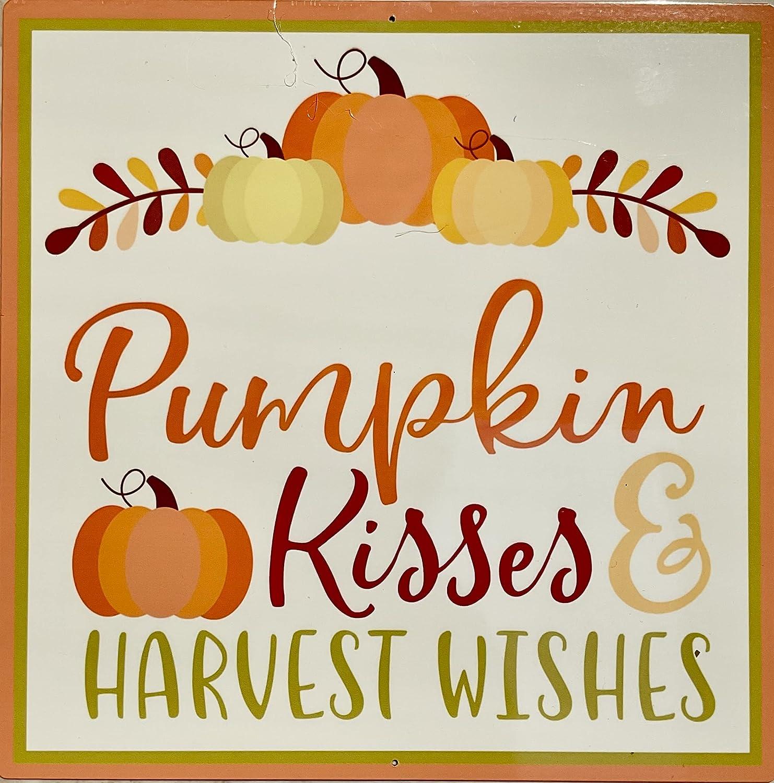 Pumpkin Popular products Kisses OFFicial site Harvest Wishes or Sign Door Hanger
