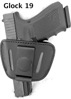 Don't Tread on Me Conceal and Carry Holsters DTOM Premium Leather (not Synthetic) Universal IWB or OWB Ambidextrous Belt Slide Holster