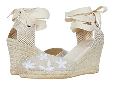 Soludos Floral Classic Wedge (Sand) Women