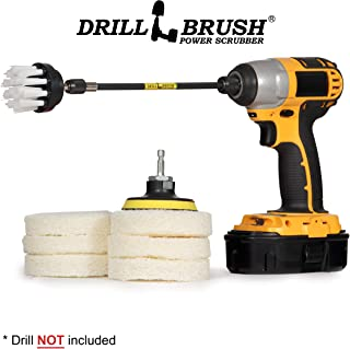 Bathroom Cleaner - Drill Brush Power Scrubber Pads - Scrub Brush - Shower Door Tracks - Scratch Free Scrubber - Bathroom Sink - Bathtub Cleaner - Shower Cleaner - Baseboard - Vinyl Flooring
