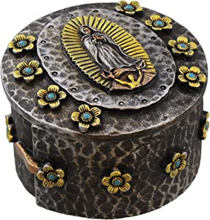 Virgin Mary Lady of Guadalupe Rosary Holder/Trinket Box