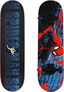 PlayWheels Ultimate Spider-Man 28 Inch Complete Skateboard - Beginner Trick Skateboard for Kids - Spider-Crawl