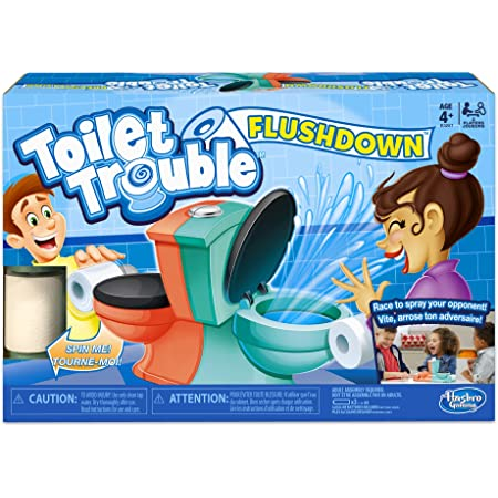 Hasbro Gaming Toilet Trouble Flushdown Kids Game Water Spray Ages 4+