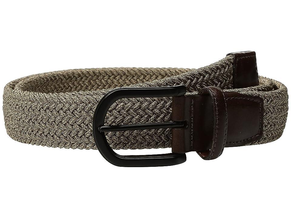 Torino Leather Co. 35mm Italian Braided Melange Rayon Elastic (Camel) Men