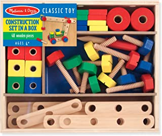 Melissa & Doug Wooden Construction Building Set in a Box (48 pcs)
