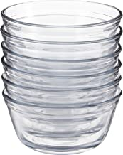 Anchor Hocking Glass Food Prep and Mixing Bowls, 1 Quart (Set of 6), Clear -