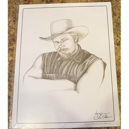 JOHN WAYNE SKETCH BY ARTIST DALE ADKINS 11 X 14 PRINT  641