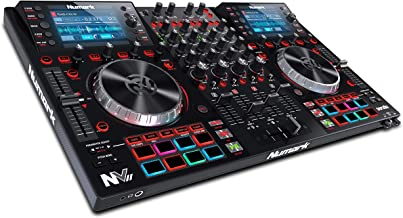 Numark NVII | DJ Controller برای Serato DJ با صفحه نمایش دوگانه هوشمند و دستگیره های لمسی خازنی