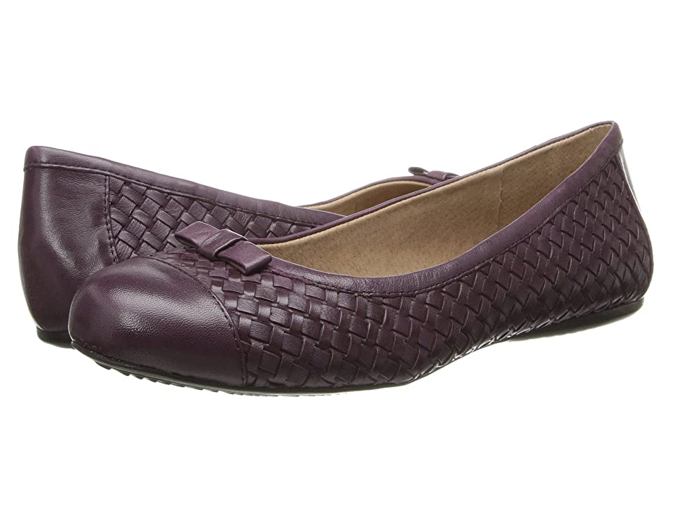 SoftWalk Naperville (Oxblood Woven Soft Nappa Leather) Women